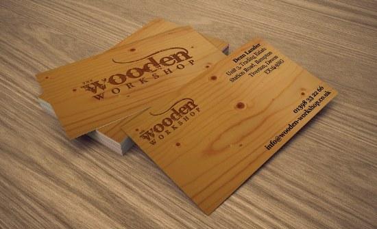tarjetas presentacion pack madera