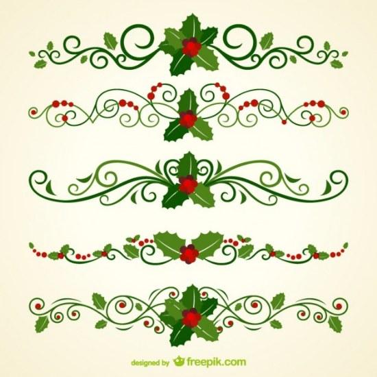 ornamentos encabezado navidad illustrator