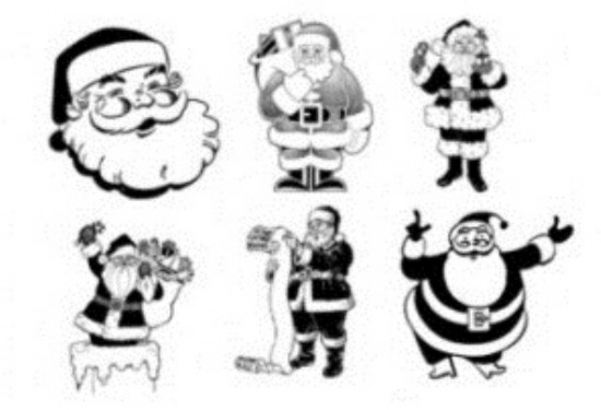santa claus pinceles pack photoshop