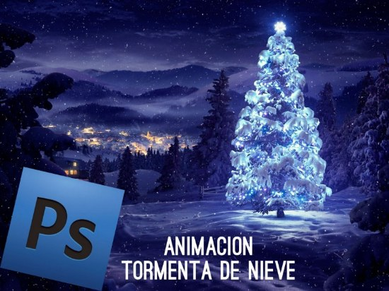efecto animado nieve photoshop tutorial