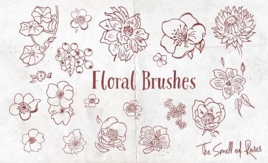 pinceles flores photoshop gratis