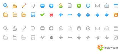 Set de bonitos iconos gratis!