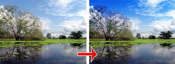 Tutorial Photoshop - cambiar color de cielo