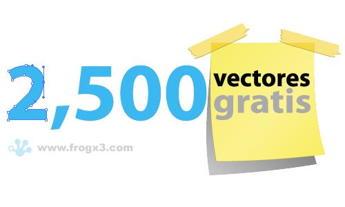 Mas de 2500 vectores gratis