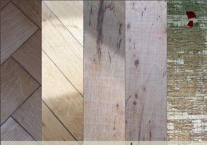 Impresionantes texturas de madera