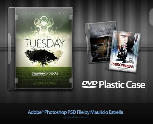 cajas de dvd (plastic case) psd file