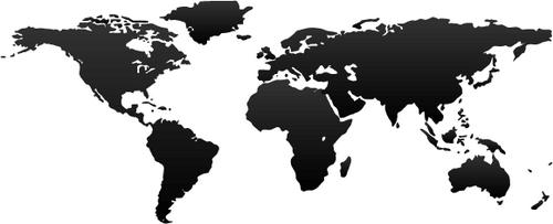 mapa del mundo en vector