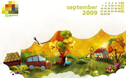 fondo escritorio calendario septiembre 2009