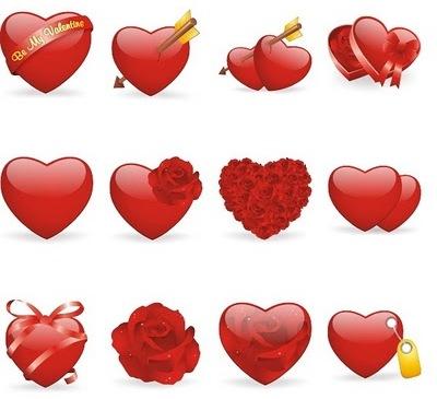 valentines iconos