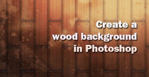 fondo de madera con photoshop