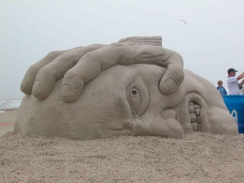 esculturas arena