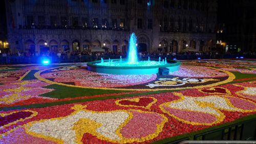 alfombra flores