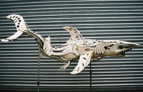 escultura con rines