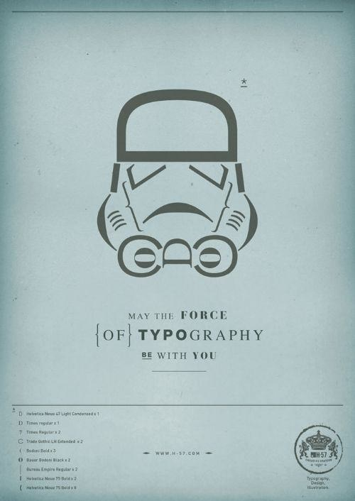 star war tipografia