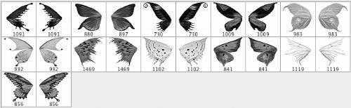 mariposa pinceles