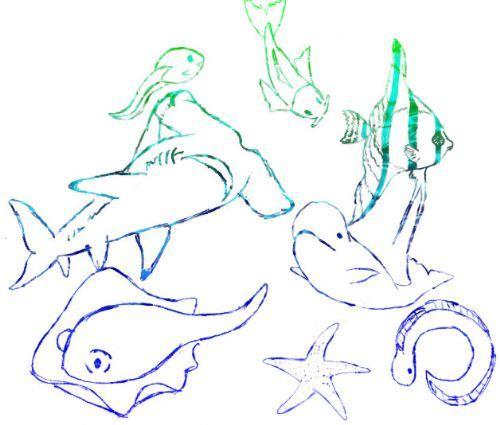 pinceles mar