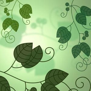 pinceles de hojas