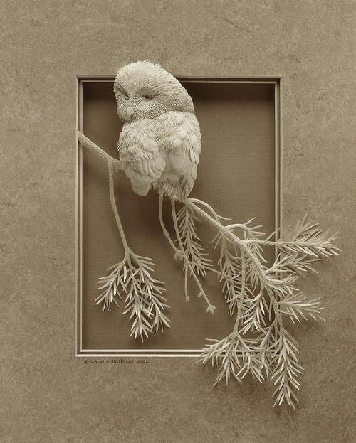 escultura animales papel