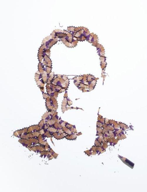 arte virutas lapiz