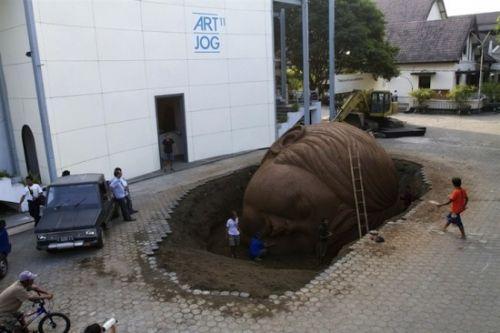 cabeza arcilla gigante