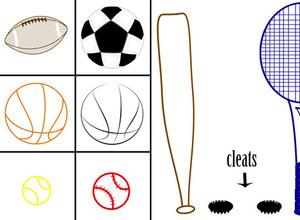 Pinceles de deportes para niños
