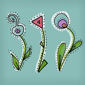 Pinceles de flores curvas para Photoshop
