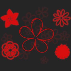 20 pinceles de manchados de flores para Photoshop