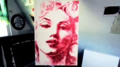 pintura labios arte