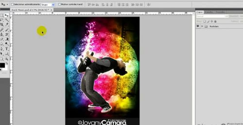 Tutorial Photoshop: Efectos Luces de Neón Rock