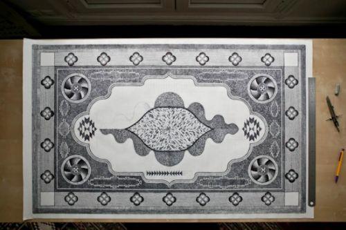 alfombra boligrafo