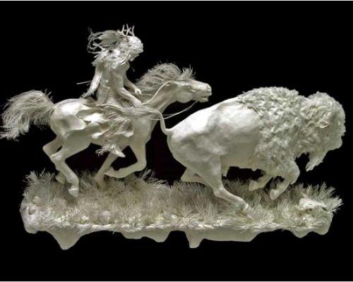 esculturas papel fundido
