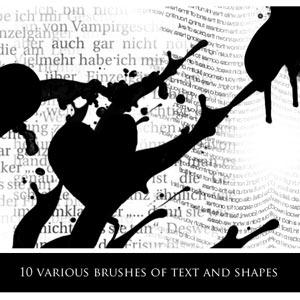formas texto pinceles