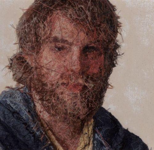 increible retratos bordados
