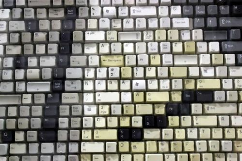 mosaico teclas teclado