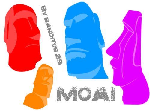 cabezas moai