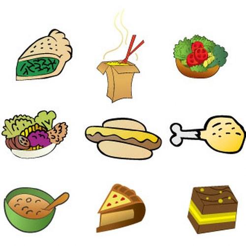 vectores comida