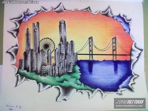 tatuaje ciudad