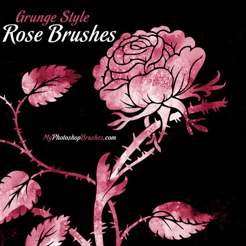 pinceles rosas grunge