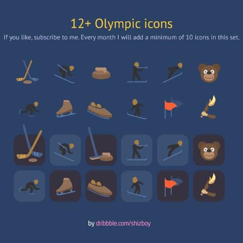 iconos olimpiadas invierno