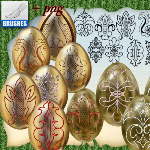 pinceles decorativos huevos pascua