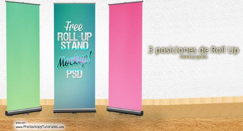 roll up psd banner