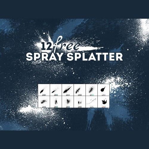 salpicaduras spray pinceles