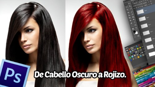 cambio color cabello photoshop