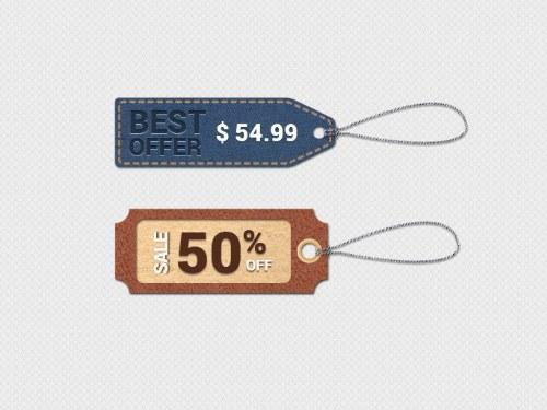 archivo psd etiqueta precios