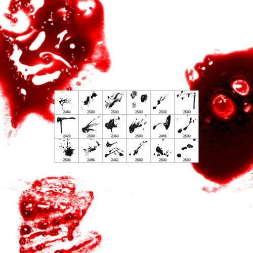 pinceles salpicaduras sangre photoshop