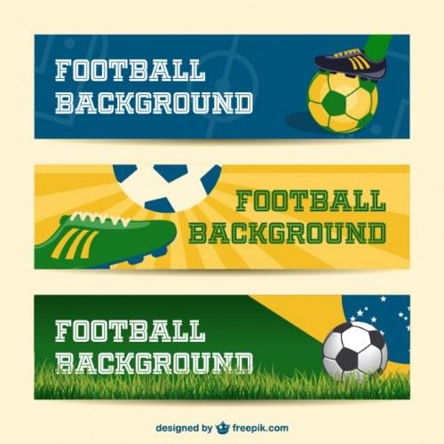 illustrator vectores mundial futbol banners