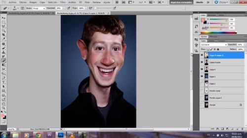efecto caricatura tutorial photoshop