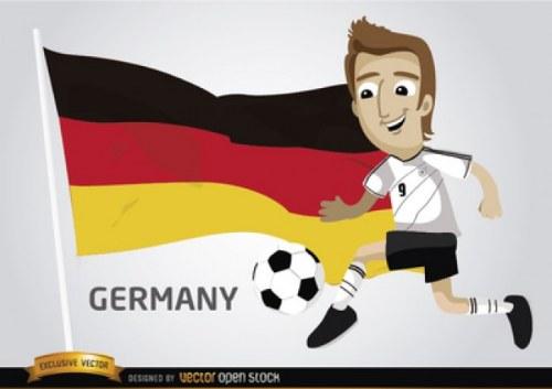 vector alemania bandera futbol illustrator