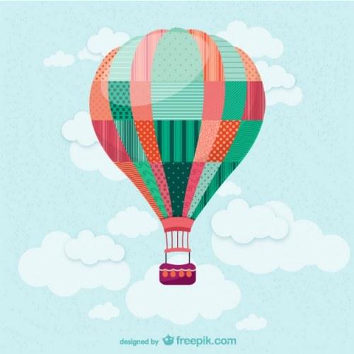 globo aerostatico vector illustrator