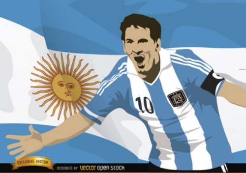 lionel messi argentina vector illustrator